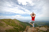 Elements of yoga — Stock Photo