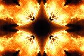 Flaming symbol — Stock Photo