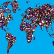 Stock Photo: World-map