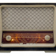 Vintage radio on — Stock Photo