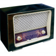 Stock Photo: Vintage radio top