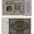 100.000 Deutsche Mark — Stockfoto