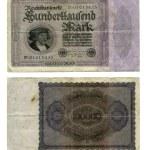 100.000 německé marky — Stock fotografie
