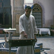 FEZ, MOROCCO – AUGUST, 1979:  In the courtyard of a restaurant — Stock Photo
