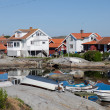 Summer homes on the swedish island of Käringön — Stock Photo
