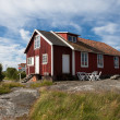 Old house on a swedish island - Stock Photo
