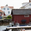 Small fishing village in Sweden — Stock Photo