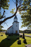 Small church on the swedish island of Käringön — Stockfoto