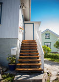 Stairs leading to a small summer home in Sweden — Stock Photo