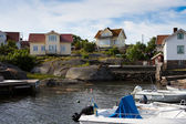 Summer homes in sweden — Stock Photo