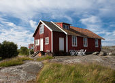 Old house on a swedish island — Stock Photo