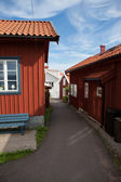 Small vacation homes in Sweden — Stock Photo