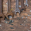 Stock Photo: Set of tools