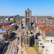 Ghent, Flanders, Belgium, from the Belfry tower — Stock Photo
