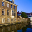 Canal and houses at Bruges, Belgium — Stock Photo