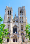 Saints Michael and Gudule in Brussels — Stock Photo