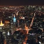Manhattan dark night — Stock Photo