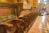 Choir stall left side — Stock Photo