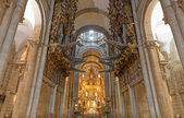 Church organ wide angle — Stockfoto