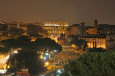 Roma coliseum in the night — Stock Photo