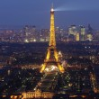 Stock Photo: Eiffel tower by night #4