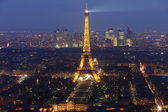Eiffel tower by night #4 — Stock Photo