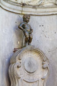 Manneken Pis, closeup view of statue in Brussels — Stock Photo