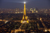 Eiffel tower by night #3 — Stock Photo