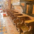 Stock Photo: Choir stall right side