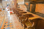 Choir stall right side — Stock Photo
