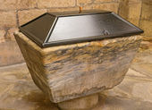 Baptismal font — Stock Photo