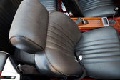Shiny Car leather seats — Stock Photo