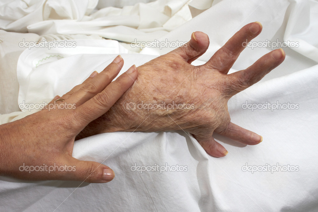 Comparison of healthy adult hands fisted older person affected by arthritis, rheumatism, osteoporosis. — Stock Photo #10870733
