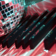 Disco ball and keyboard — Stock Photo #11534315