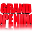 3d text Grand opening — Stock Photo #12029865