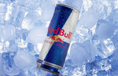 Red Bull can in Ice — Stock Photo