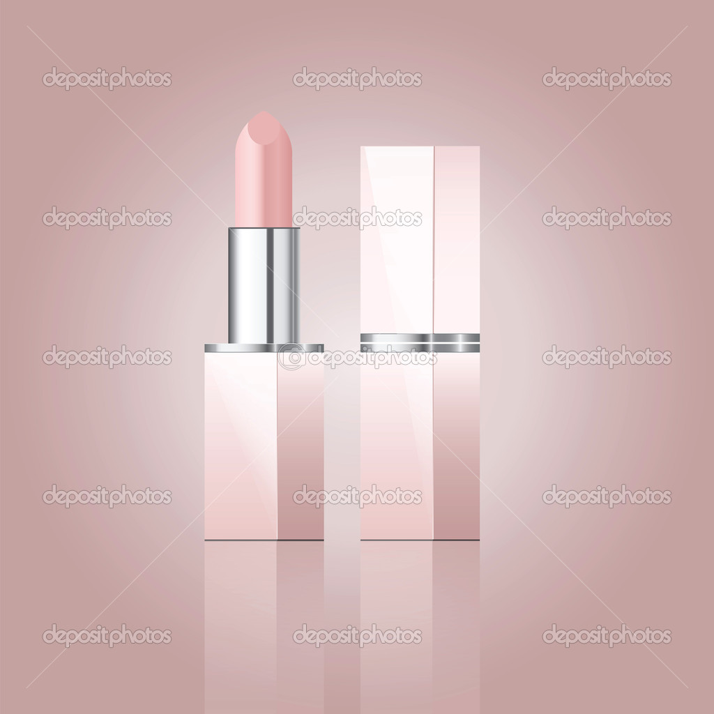 Vector illustration of pink lipstick — Stock Vector #10752599