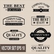Stock Vector: Vector set of vintage labels and banners