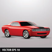 Vector red american car — Stock Vector