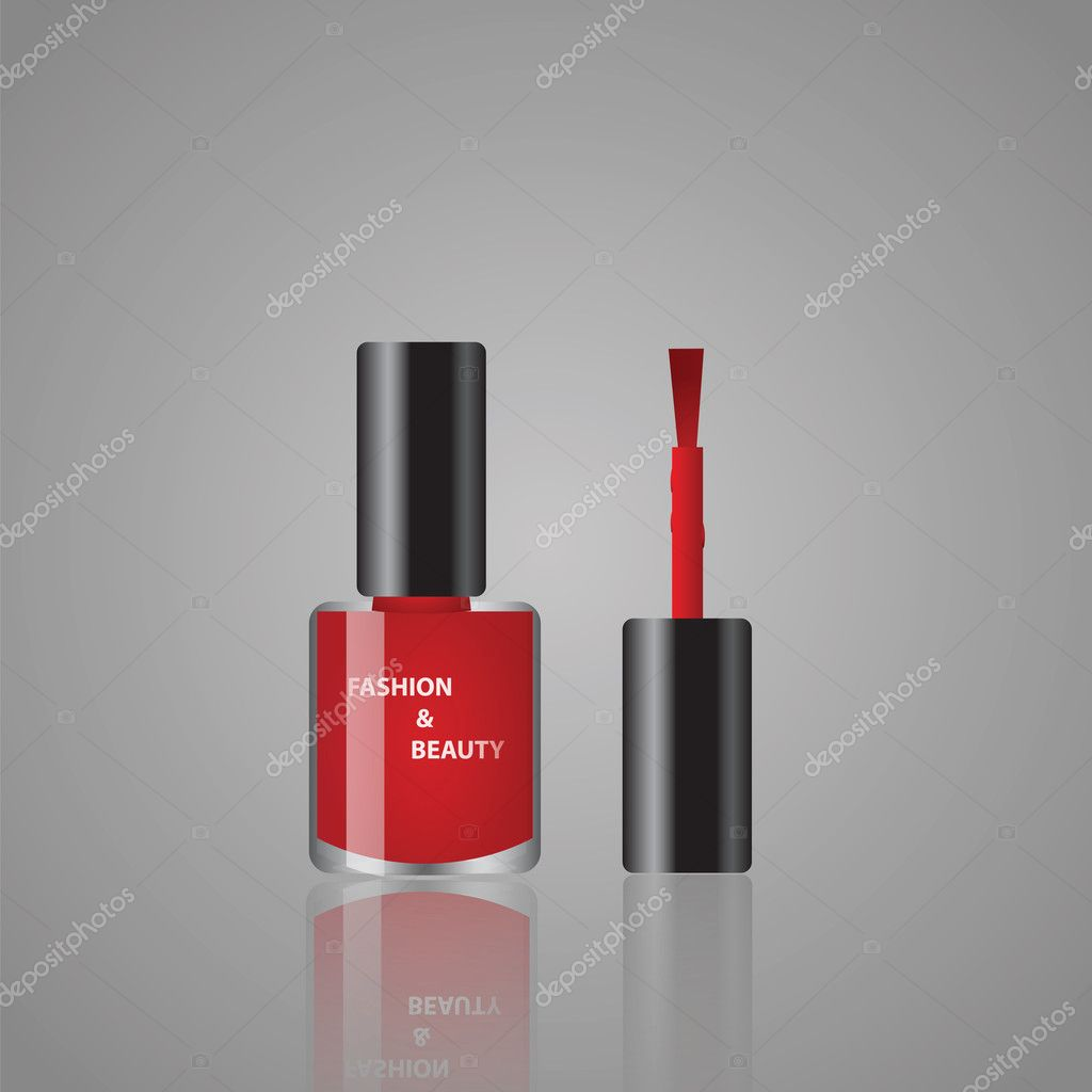 Vector illustrations of red nail polish  Vettoriali Stock  #11134412