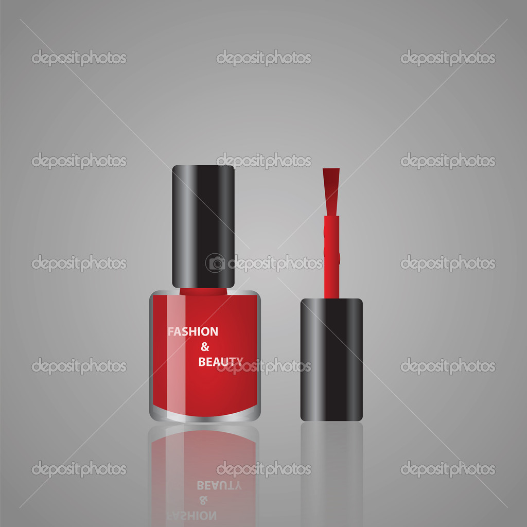 Vector illustrations of red nail polish — Stock vektor #11134412