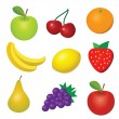 Vector fruit set — Stock Vector