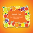 Royalty-Free Stock Vector Image: Vector frame from fruits 2