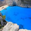 Shipwreck beach, Zante island, Greece — Stock Photo