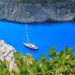 Boat trip to Navajo beach, Zakynthos island, Greece — Stock Photo #10951076