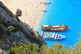 Navagio beach, Zante island, South Greece — Stock Photo