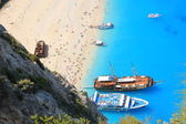 Navagio beach, Zakynthos — Stock Photo