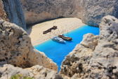 Navagio beach, Greece — Stock Photo