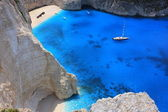 Navagio beach, Zante island, Greece — Stock Photo
