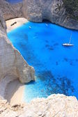 Navagio beach, Zante, Greece — Stockfoto